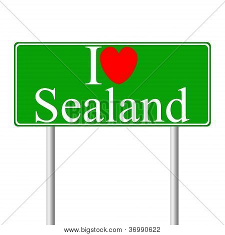 I Love Sealand, Concept Road Sign