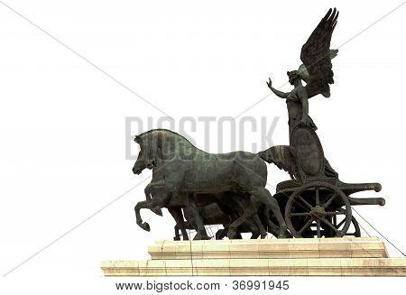 Statue Of The Goddess Victoria Riding On A Quadriga