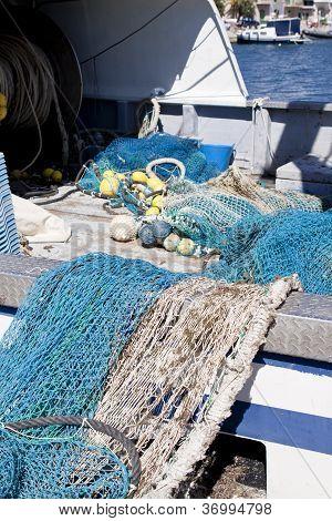 Mallas Putdoor de cuerda de arrastre en verano en el puerto