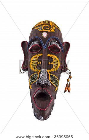 wooden   mask of culture of tribes of Africa
