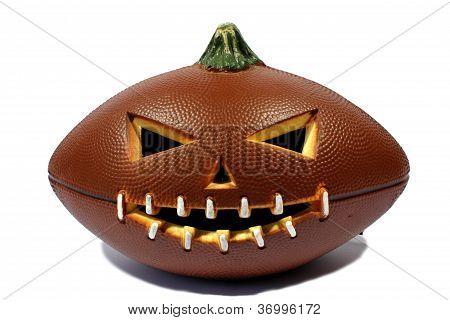 Football Jack O Lantern