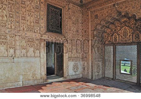 Rich Palace Interior Red Fort Delhi