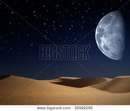 Desert on the night