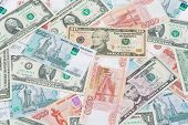 picture of ten thousand dollars  - Background of banknotes - JPG