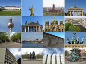 Berlin landmarks poster