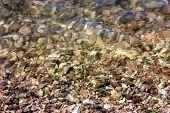 stock photo of underthings  - a shot of the gravel Underthe water at Stockton lake Missouri - JPG