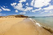 pic of papagayo  - beautiful empty papagayo beaches in late afternoon sunshine - JPG