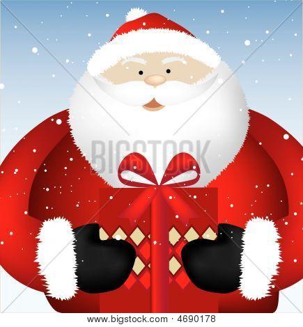 Santa Present Close