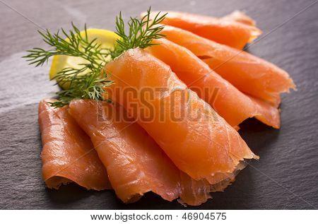 salmão fumado