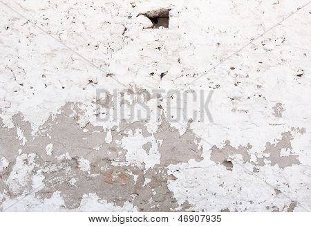 Background. The Old White-washed Walls With Different Shades.