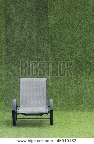 black daybed on green grass