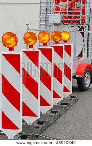 Road Works Barrier