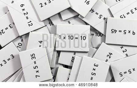 multiplication card