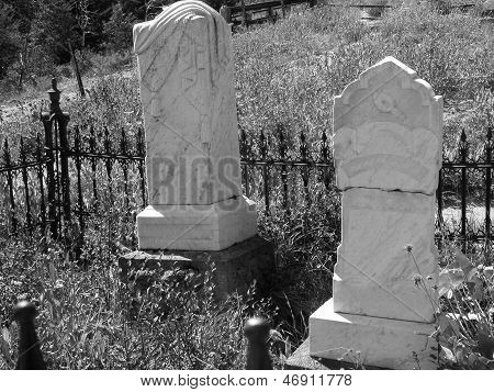 Gravestones in a Ghost Town