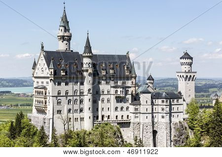 Neuschwanstein Above The Surrounding Country