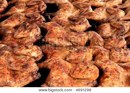 Barbecue Chicken Closeup