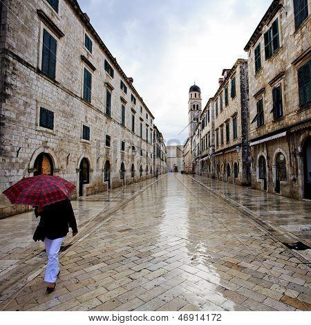 Dawn Commute In Dubrovnik