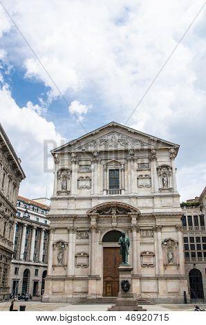 Santa Maria Della Scala In San Fedele In Milan, Italy