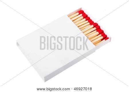 Red Matches In A White Box