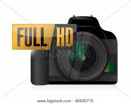Full Hd Video Camera Illustration Design