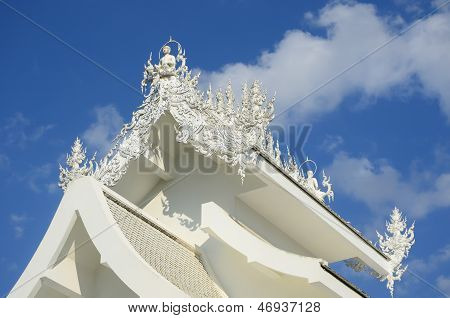 Famous White Church In Wat Rong Khun, Chiang Rai Province, North