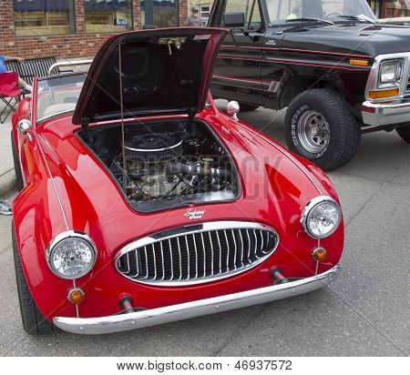 1988 Red Sebring Roadster Car Front View