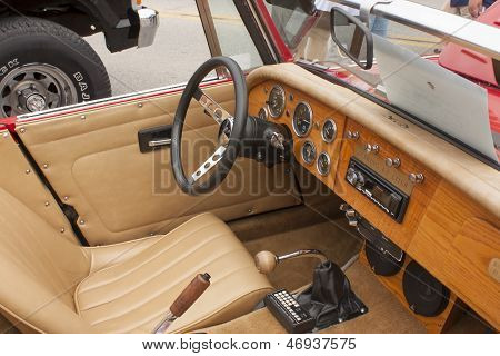 1988 Red Sebring Roadster Car Interior View