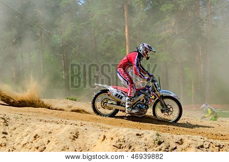 Lytkarino, Moscow Region, Russia - 18 May 2013: Motocross Cup Motor Club