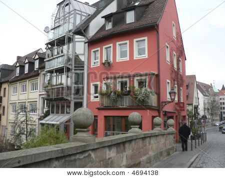 Coral-colored House In Nuremberg
