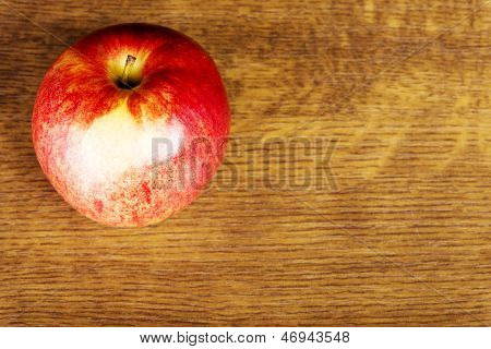 Apple on wooden  table