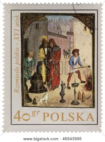 Polish Crafts In Medieval Town
