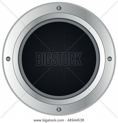 Silver Loudspeaker
