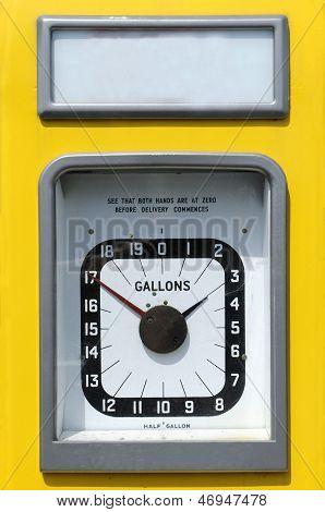 Vintage Petrol Pump Dial