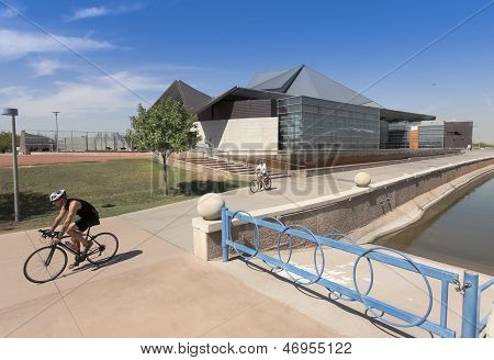 A Tempe Center For The Arts Biking Shot
