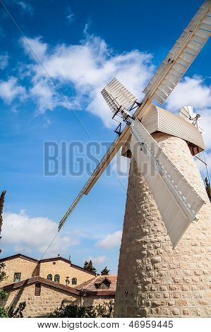 Windmill In Jerusalem