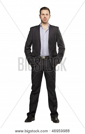 Young Man In Black Suit