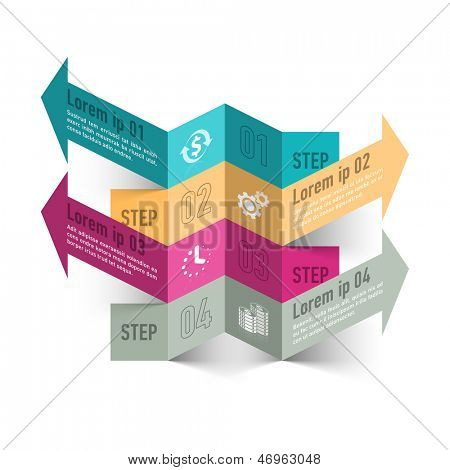 Modern business process infographics template. Vector.