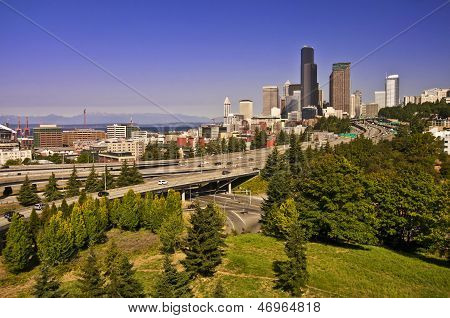 The View of Seattle from Dr Jose Rizal Bridge