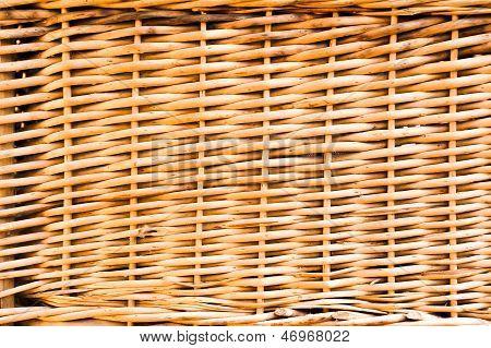 Wicker basket wall