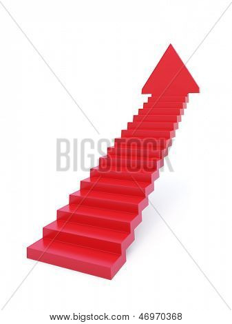 stairs going  upward, isolated 3d render