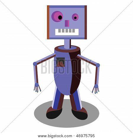 robô vetor ciência ilustração máquina cartoon brinquedo bonito Cyborg