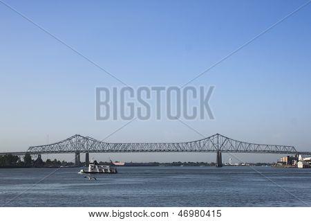 Bridge And Tug Boat