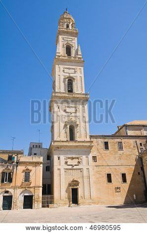 Belltower of Duomo Church. Lecce. Puglia. Italy.