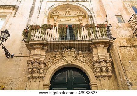 Grassi Palace. Lecce. Puglia. Italy.