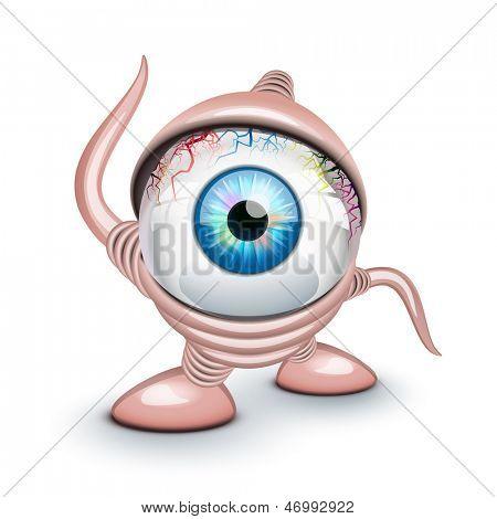 O olho de Ciclope sobre branco