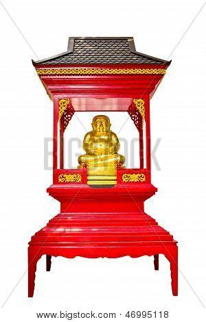 Happy Budha In Shrine