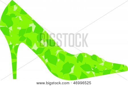 Shoe With Leaves