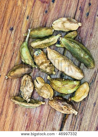 Dried Pods Of Cardamon