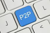Blue P2P (Peer to Peer) button