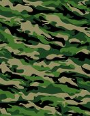 stock photo of camoflage  - camouflage print in traditional swampy green and beige - JPG